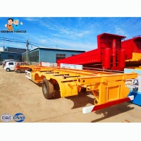 Buy cheap Flatbed 13T FUWA Axle Twistlock Container Semi Trailer from wholesalers