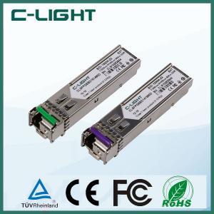 Buy cheap 1.25Gb/s WDM BIDI Optical Transceiver 20km , Cisco Compatible SFP Modules product