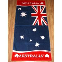 Buy cheap 100% Cotton Flag Beach Towels With Reactive Printed from wholesalers