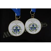 Soft Enamel Football Award Medals , Custom Soccer Medals For Kids Anti Corrosion