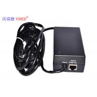 Buy cheap Black POE Power Adapter 10 / 100Mbps IEEE 802.3af Compliant Compact Size from wholesalers