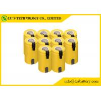 Buy cheap 1.2V SC Type Nickel Cadmium Battery Sub C Nimh Batteries With Tabs Long Cycle Life from wholesalers