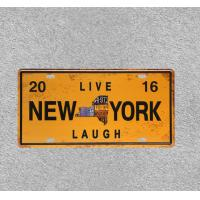 Buy cheap NEW YORK Metal Plaque Metal Tin Signs Vintage Wall Plaque american state plate hanging from wholesalers