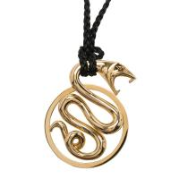 Buy cheap 18K Yellow Gold Snake Pendant Necklace With 90 Cm Total Length / 48.5 Gr from wholesalers