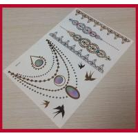 Buy cheap Customized temporary tattoos-gold-foil-tattoo, temporary tattoo sticker from wholesalers