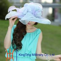 Buy cheap Lady Yellow Fashion Organza Hats Summer For Special Occassion from wholesalers