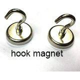 Buy cheap Super stong suction Magnetic Hook with Rotating and Swing Hook, 1.47 Diameter, 0.54 Thick, 65 Pounds, Black from wholesalers