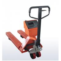 Buy cheap OEM Mild Steel Pallet Jack Weight Scale , Red Hand Pallet Truck With Scale from wholesalers
