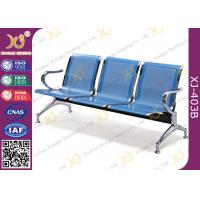 Buy cheap Hospital Iron Structure Full Welding 3 Seater Waiting Chair With Cushion from wholesalers