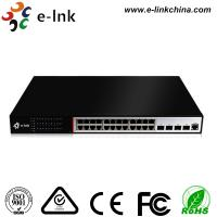 Buy cheap 24 Ports Ethernet POE Switch 10 / 100 / 1000Base-T + 4 ports 10G SFP slots from wholesalers
