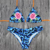 Buy cheap Wholesale and Retail 2018 Women Sexy Print Adjustable Triangle Bikini Set product