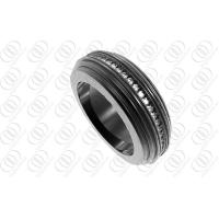 Buy cheap PVD IP Women Stainless Steel Rings Black , Mens Black Diamond Rings from wholesalers