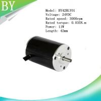 Buy cheap BY42BLY01  24V DC 11W   0.04N.m Brushless DC motor from wholesalers