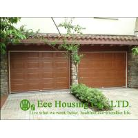 Buy cheap Galvanized steel Sectional remote-controlled garage door For Condos, Wood color from wholesalers