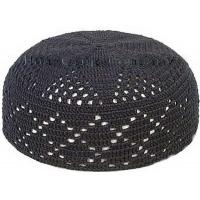 Buy cheap black pure cotton crochet cap from wholesalers