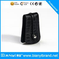 Buy cheap Genuine Leather Car Key Holder Wallet Keychain Case Bag Black from wholesalers