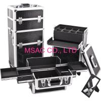 Buy cheap Aluminum Makeup Cases/Aluminum Trolley Cases/Black leather Makeup Cases/Hair Cut Cases from wholesalers
