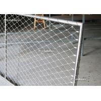 China Flexible Stainless Steel Wire Rope Mesh Frame Panels For Railing on sale
