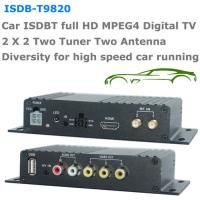 Buy cheap ISDB-T9820 Car ISDB-T Two tuner Two Antenna HD MPEG4 TV receiver for Brazil Peru Chile Costa Rica from wholesalers