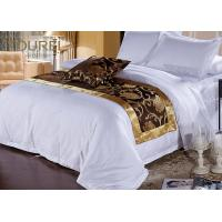 Buy cheap 300 Tc Cotton European Hotel Bed Runners / Flat Sheet / Pillowcase from wholesalers