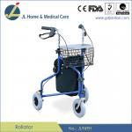 Buy cheap #JL969H – 3-Wheel Rollator Walker With Shopping Basket, Bag & Loop Brakes from wholesalers