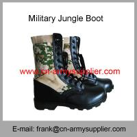 Buy cheap Wholesale Cheap China Split Leather Rubber Sole Camouflage Military Jungle Boots from wholesalers