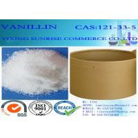 Buy cheap C8H8O3 Chemical Food Additives Slightly Yellow Vanillin Crystals CAS 121-33-5 product