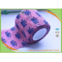 Buy cheap Non Woven Self Adhesive Bandage Roll , Coflex Pink Cohesive Tape For Dog / Cat / Horse from wholesalers