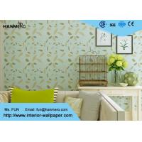 Green Leaf Pattern Modern Removable Wallpaper Moisture Proof