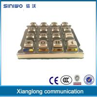 Buy cheap Custom metal backlit numeric keypad from wholesalers