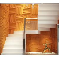 Buy cheap Removable Bedroom / Bathroom Wall Sticker 3D Decorative Wall Panels Sound-absorbing from wholesalers