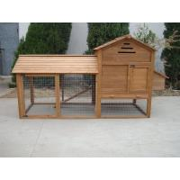Buy cheap yellow wooden pet house with metal tray,good design and useful from wholesalers