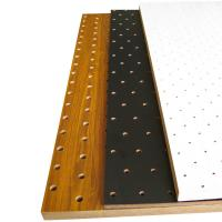 Buy cheap Fireproof Decorative Perforated Wood Panels Hall Wood Sound Absorption from wholesalers