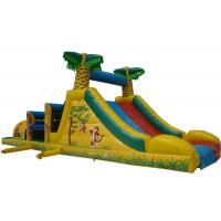 Buy cheap Big Party Obstacle Course Bounce House Rentals , Kids Sports Games Blow Up Assault Course from wholesalers