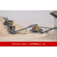 Buy cheap Cement Aggregate Processing Plant , Limestone Production Line Less Dust Pollution from wholesalers