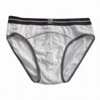 Buy cheap Men's Briefs, OEM Services are Welcome, Made of 100% Cotton from wholesalers
