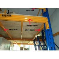 Buy cheap Blue And Yellow 2-Layer Mezzanine Floor Stairs Epoxy Powder Coated from wholesalers