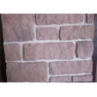 Buy cheap Decorate Fake Stone Wall Tiles , Faux Rock Wall Covering Solid Surface from wholesalers