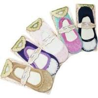 Buy cheap Purple and pink color Eye catching designer Lace Boat Sock for lady from wholesalers