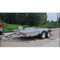China Double Axles 20x6 Flatbed Tandem Car Carrier Trailer , Car Transporter Trailer on sale