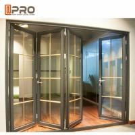 Buy cheap Aluminum Frame Folding Glass Doors Thermal Break Aluminium System Design folding door bi fold shower door FOLD BATHROOM from wholesalers