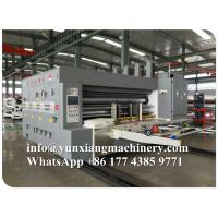 Buy cheap YUNXIANG Group Lead Edge Flexo Printer Slotter Die Cutter Machine from wholesalers