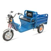 Buy cheap 580W 48V / 32Ah Adult Electric Tricycles Blue Electric Cargo Tricycle Easily Loading from wholesalers