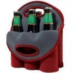 Neoprene Wine Bottle Cooler/Holder/Carrier, 6-bottle Cooler Bag