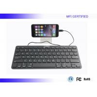 Buy cheap iPad MFI Apple Wired Keyboard Portable With Lightning Connector product