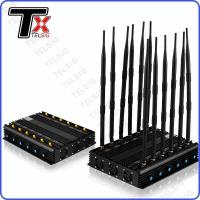 Buy cheap Infrared Remote Control Mobile Jammer Device , 12 Antennas Phone Signal Jammer from wholesalers