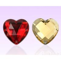 Buy cheap heart shape flat back sew on stones for wedding dress from wholesalers