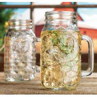 Buy cheap set of 2 pieces 22oz  glass handle mugs with lids or without lids,for beer and  cold water product