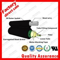 Buy cheap Outdoor Aerial Central Tube gyxtc8s Single Mode g652d Fiber Optic Cable Figure 8 steel Self-Supported cables from wholesalers