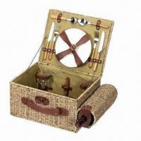 Buy cheap Picnic Basket, Made of Wicker from wholesalers